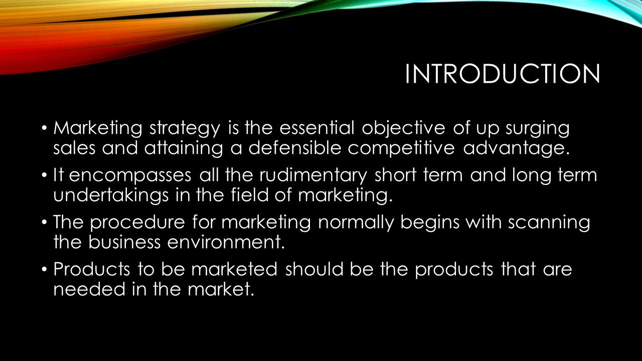 An Introduction to a Marketing Strategy